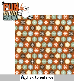 Winter Chill: Fun in the Snow 2 Piece Laser Die Cut Kit