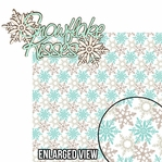 Winter Chill: Snowflake Kisses 2 Piece Laser Die Cut Kit