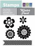 Winter Frost: Flowers Clear Stamps