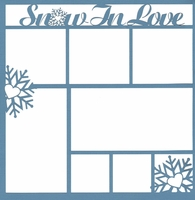 Winter: Snow In Love 12 x 12 Overlay Laser Die Cut