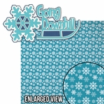 Winter Sports: Going Downhill 2 Piece Laser Die Cut Kit