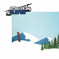 Winter Sports: Hitting The Slopes 2 Piece Laser Die Cut Kit