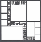 Winter Sports: Hockey Words 12 x 12 Overlay Laser Die Cut
