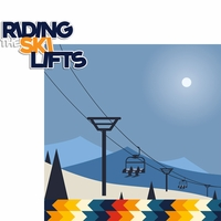 Winter Sports: Riding The Ski Lifts 2 Piece Laser Die Cut Kit