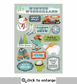 Winter: Winter Wonderland Cardstock Stickers