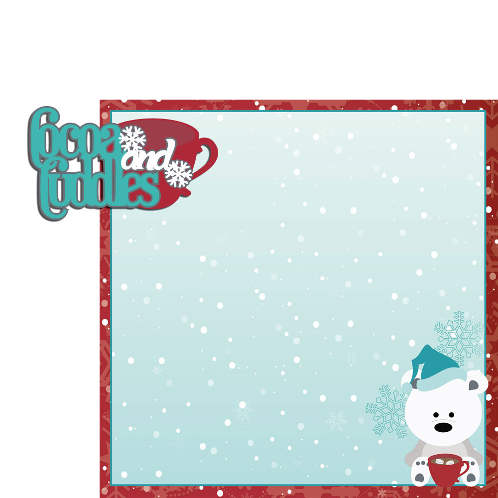 Winter Wishes:Cocoa and Cuddles 2 Piece Laser Die Cut Kit