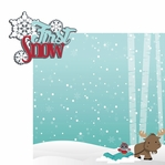 Winter Wishes: First Snow 2 Piece Laser Die Cut Kit