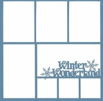 Winter Wonderland 12 x 12 Overlay Laser Die Cut