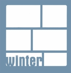 Winter Word Frame 12 x 12 Overlay Laser Die Cut
