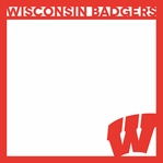 Wisconsin Badgers 12 x 12 Overlay Laser Die Cut