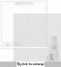 With This Ring: The Cake 12 x 12 Overlay Quick page Laser Die Cut
