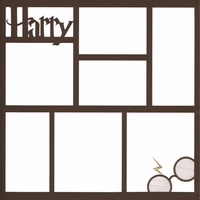 Wizard 12 x 12 Photo Overlay Laser Die Cut