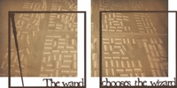 Wizarding World: The Wand Chooses The Wizard Double 12 x 12 Overlay Quick page Laser Die Cut
