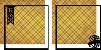 Wizarding World: Yellow Flag Double 12 x 12 Overlay Quick page Laser Die Cut