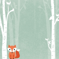 Woodland Creatures: Clever Little Fox 12 x 12 Paper