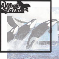 World Of The Sea: A Whale Of A Time 12 x 12 Overlay Quick Page Laser Die Cut