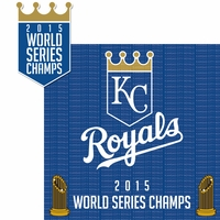 World Series: Kansas City Royals 2 Piece Laser Die Cut Kit