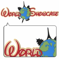 World Showcase Metallic Border Laser Die Cut