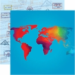 World Traveler 12 x 12 Double-Sided Cardstock