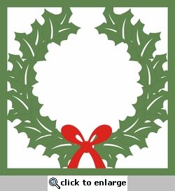 Wreath 12 x 12 Overlay Laser Die Cut