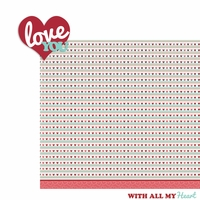 XOXO: Love you 2 Piece Laser Die Cut Kit
