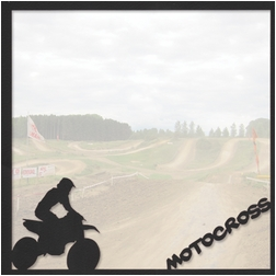 Xtreme Sports: Motocross 12 x 12 Overlay Quick Page Laser Die Cut