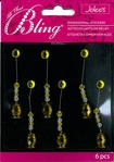 Yellow Radiant Swing Bling Dimensional Sticker