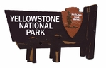 Yellowstone National Park Sign Die Cut