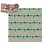 You Had Me At Meow!: I Heart My Cat 2 Piece Laser Die Cut Kit