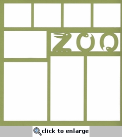 Zoo: Animal Letters 12 x 12 Overlay Laser Die Cut