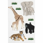 Zoo Animals Medium Stickers