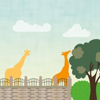 Zoo Days: Giraffes 12 x 12 Paper