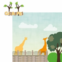 Zoo Days: Giraffes 2 Piece Laser Die Cut Kit