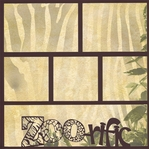 Zoo-fari: Zoo-rific 12 x 12 Overlay Quick Page Laser Die Cut