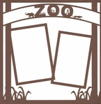 Zoo: Zoo Sign 12x12 Overlay Laser Die Cut
