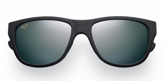 Maui Jim Maui Cat III Sunglasses - Matte Black Rubber / Grey Polarized