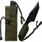 7.5 Tactical Tanto Fixed Blade Knife Survival Paracord & Magnesium Firestarter
