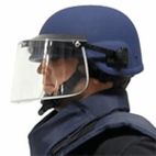 Combat Helmet Level IIIA with Ballistic Face Shield Level II