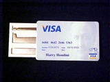 Harry Houdini Style Credit Card Lock Pick