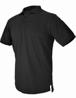 Hazard 4 QuickDry Undervest Plain Front Battle Polo Black