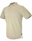 Hazard 4 QuickDry Undervest Plain Front Battle Polo Tan (L)