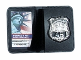 Perfect Fit Duty Leather Book Style Single ID & Badge Case PF-99