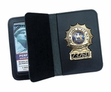 Perfect Fit Duty leather Recessed Badge & Double ID Case 98-A