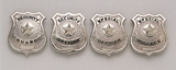 Police / Security Badges Available in Gold and Silver