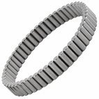 Powerful Magnet Therapy Bracelet Gun Metal - Customizable Size