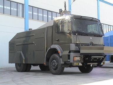 Riot Control Vehicle Model SECPRO 6500 on MB Chassis