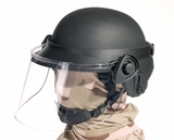 Riot Face Shield Option for Ballistic Helmets