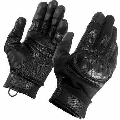 SecPro Superior Service Hard Knuckle Tactical Gloves Black Nomex