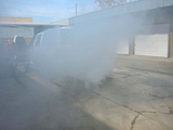 Smoke Screen Generator in action-Ford Excrusion diplomat -carros blindados
