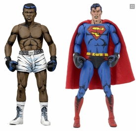 42074: NECA DC Comics Action Figures – Superman vs Muhammad Ali Special Edition 2-Pack